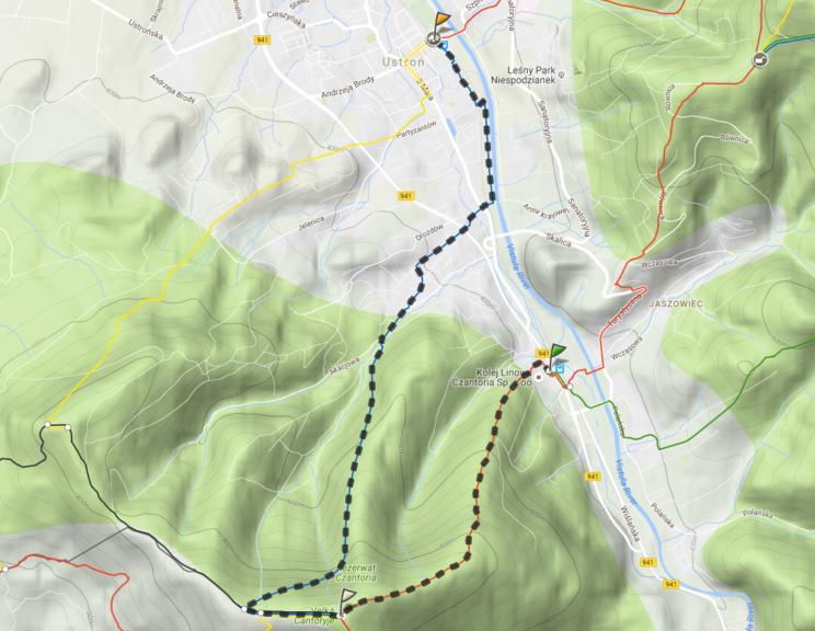 3. czantoria trasa